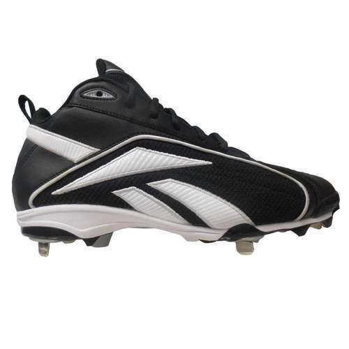 La nouvelle jeunesse Reebok Vero Mi TPU Baseball Crampons Noir//Blanc Taille 2.5Y