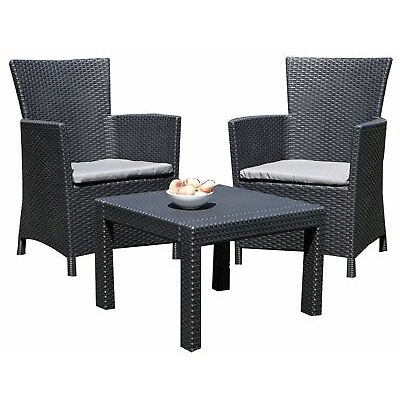 Rattan Lounge Sitzgruppe Miami Garnitur Gartenmöbel Essgruppe Sessel Set