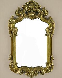 Wandspiegel deko spiegel barockspiegel bad flur spiegel antik gold barock rahmen ebay - Runder spiegel gold ...