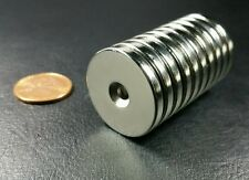 10 Neodymium N52 Disc Magnets Super Strong Rare Earth 1 X 18 With M4 Mount Hole