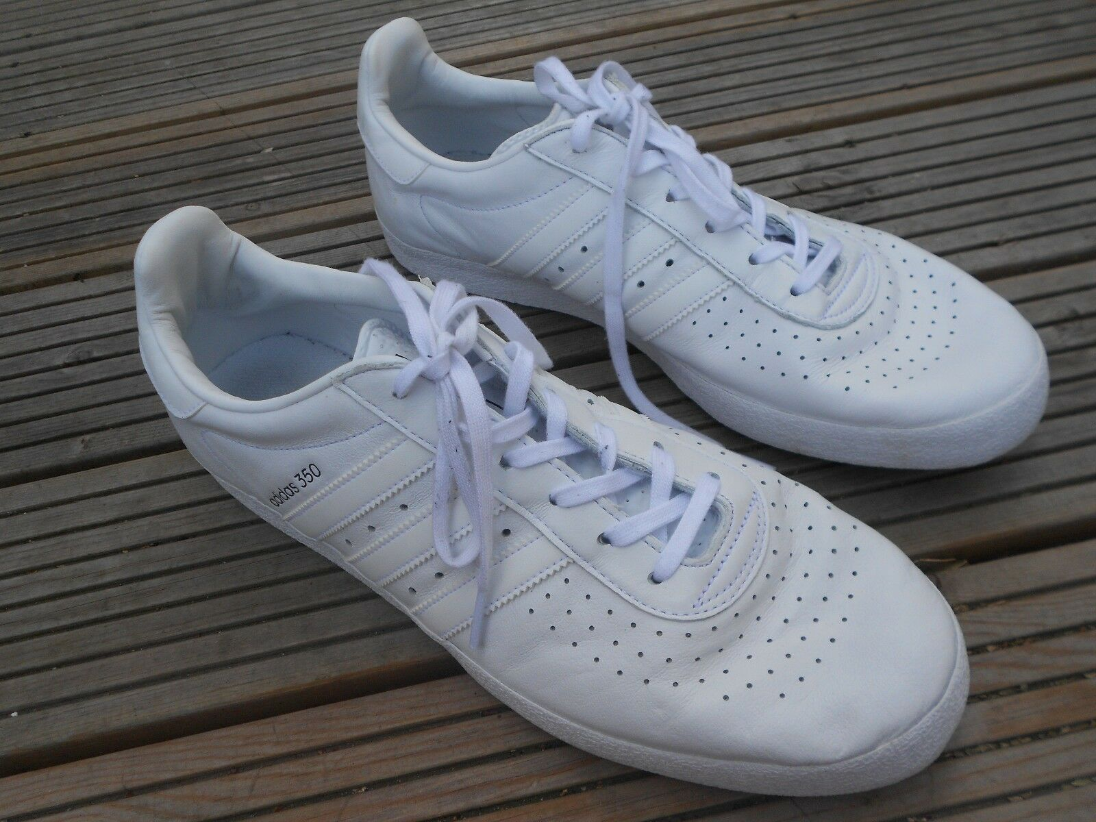 ADIDAS ORIGINALS 350 FTWR TRAINERS - UK  SZ 11 - IN GOOD CONDITION  fashionable