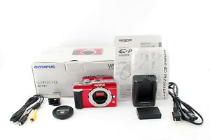 Olympus Pen E-PL1 12.3MP Digital Camera Body Red 【Excellent】 from Japan #724469