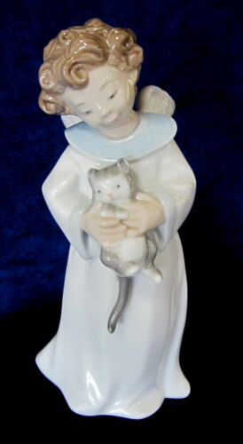 NAO BY LLADRO ANGEL CUDDLES #534 BRAND NEW IN BOX CAT CUTE SAVE$$ FREE SHIPPING