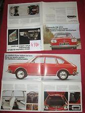 N°4380 /  VOLKSWAGEN 411 E : dépliant en français aôut 1969