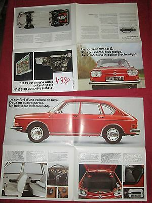 Hartig N°4380 / Volkswagen 411 E : Dépliant En Français Aôut 1969