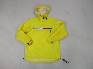 VINTAGE-Tommy-Hilfiger-Jacket-Adult-Small-Yellow-Blue-Hooded-Coat-Mens-90s