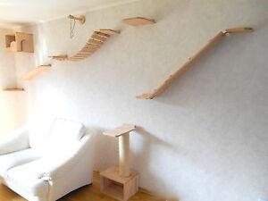 katzenm bel wandpark katzenm bel wandkratzbaum 8 teile 268 ebay. Black Bedroom Furniture Sets. Home Design Ideas