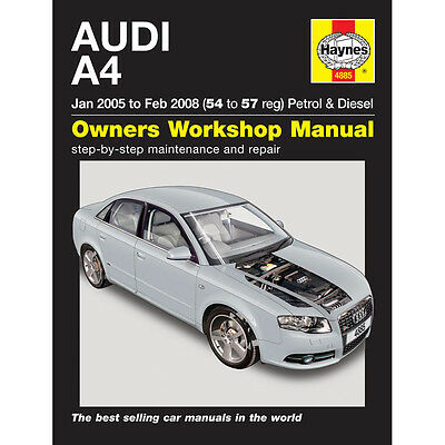 Audi A4 1.8 2.0 Petrol 1.9 2.0 Turbo Diesel 05-08 (54-57 Reg) Haynes Manual