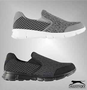 Mens-Branded-Slazenger-Breathability-Slip-On-Zeal-Knit-Trainers-Footwear-7-11
