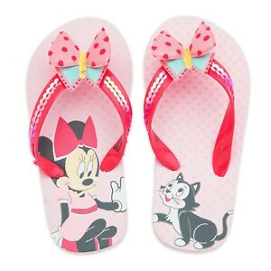 d6b9b3f53 Disney Minnie Mouse & Figaro Flip Flops Girls Sandals 5/6 7/8 9/10 ...