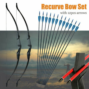 Yooudamy-57in-Takedown-Recurve-Bow-Hunt-amp-12x-Arrows-Set-Archery-Right-Left-Hand