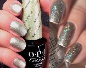 OPI Gelcolor IS THIS STAR TAKEN? Gold Holographic Glitter ...
