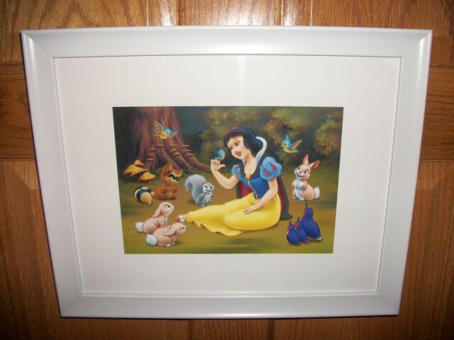 Disney Princess Framed Lithograph Snow White & Animals