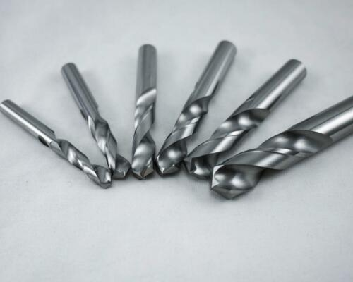 "KLOT 5pcs Solid Carbide Drill Bit 7.4mm 0.2913/"" 2-Flute Straight Shank K10"