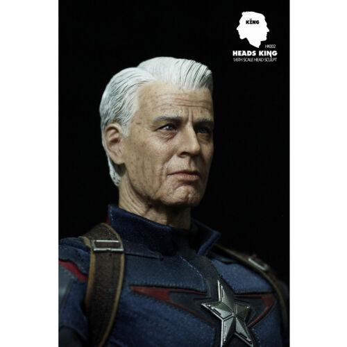 "Heads King 1//6 HK002 Captain America Old Version Head Sculpt For 12/"" Male Figure"