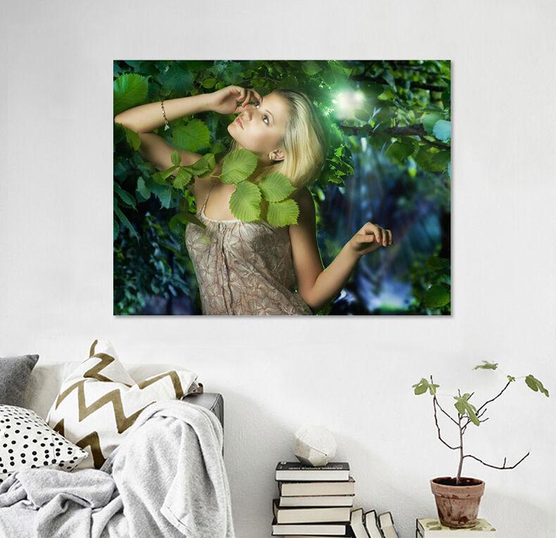 3D Grne Bltter  Mdchen  875 Fototapeten Wandbild BildTapete AJSTORE DE Lemon