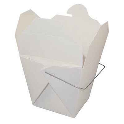 Pack of 25 WHITE 1/2 Pint Chinese Take Out Box / Food Pail / Favor Box