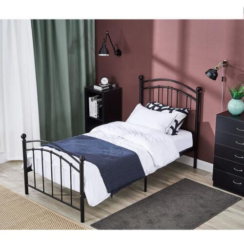Austin Single Bed Solid 3FT Metal Beds Frame Hospital Style Bedroom Furniture