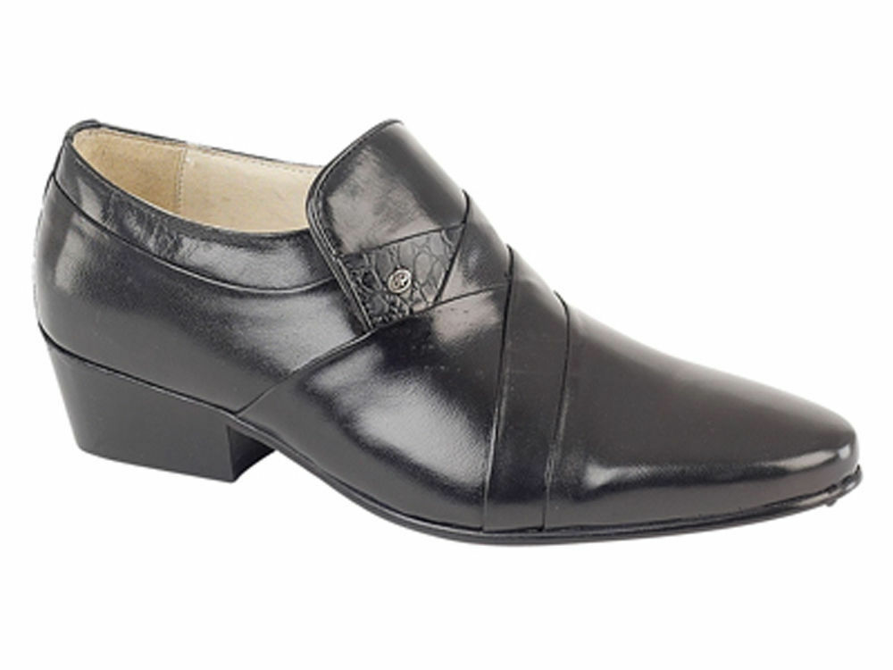 MONTECATINI Hombre CUBAN HEEL SMART FORMAL SLIP ON MT5112 ALL LEATHER Zapatos  MT5112 ON c89c9b