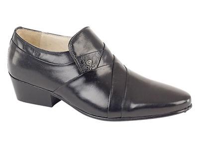 Humorvoll Montecatini Mens Cuban Heel Smart Formal Slip On All Leather Shoe Mt5112 Den Menschen In Ihrem TäGlichen Leben Mehr Komfort Bringen