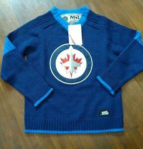 WINNIPEG-JETS-NHL-hoodie-Hockey-Logo-Licensed-Knitted-Sweater-boy-JR-small-Nwt