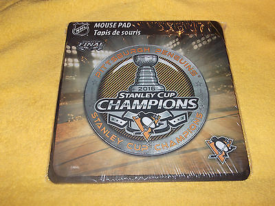 PITTSBURGH PENGUINS 2016 STANLEY CUP CHAMPIONS MOUSE PAD