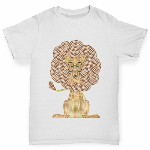 Twisted Envy Boy/'s Nerdy Lion Rhinestone T-Shirt