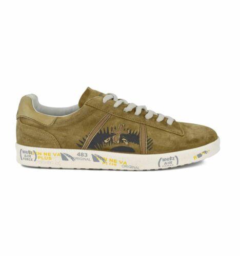PREMIATA uomo ANDY 3861 scarpa sneakers in camoscio beige vintage