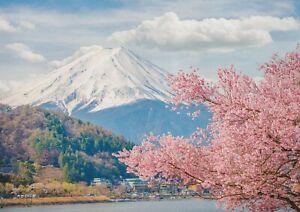 A1-Mount-Fuji-Poster-Print-60-x-90cm-180gsm-Japan-Sakura-Wall-Art-Decor-14403