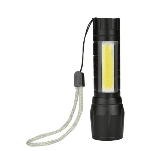 Linterna LED XPE COB Luces dobles 1000 lúmenes USB recargable con zoom EDC