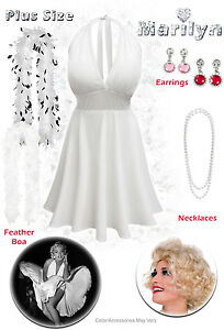Marilyn Monroe Plus Size Dress Pin Up Halloween Costume