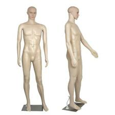 Full Body Male Mannequin Realistic Display Head Turns Dress Form With Base