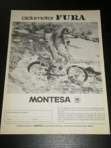 MONTESA FURA SPANISH MAGAZINE 1356 AD ANUNCIO PUBLICITE PUB 1972