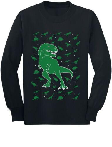 Ugly Christmas Toddler Sweatshirt Chaos Dinosaur