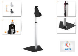 Black-Floor-Stand-Mount-Holder-Adjustable-Bracket-Bed-For-All-Apple-iPad-Samsung