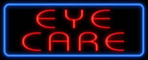 """New Eye Care Man Cave artwork Real glass Neon Sign 32/""""x24/"""" Beer Lamp Light"""