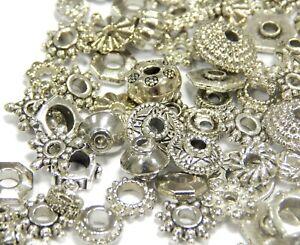 Metallperlen-Altsilber-Spacer-50g-Zwischenteile-Perlen-Schmuck-Basteln-M467