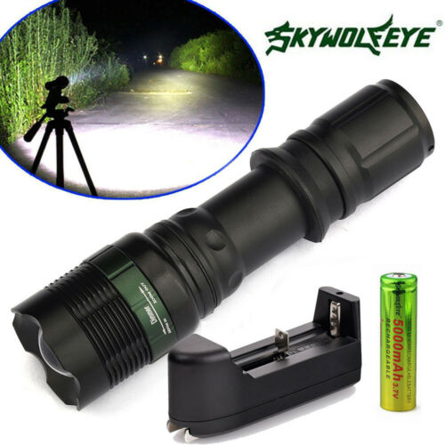 Battery Charger Set 2 Sets 6000LM Zoomable Tactical T6 LED Flashlight Torch