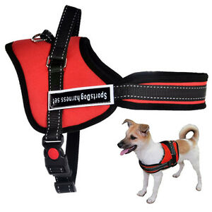 Soft Padded Non Pull Service Dog Harness Vest Small Medium Large Extra Big