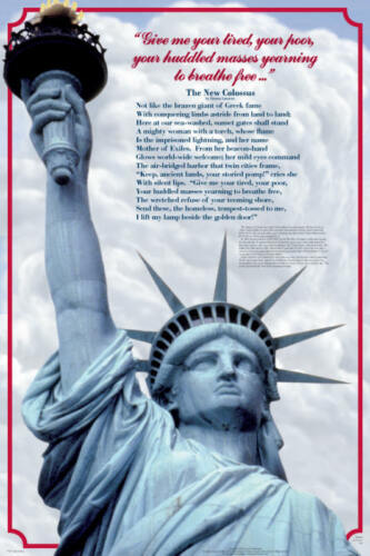 Lady Liberty Educational History Teacher Classroom Chart Poster 24x36