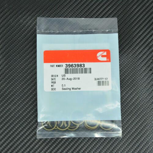 12 Cummins 12mm Banjo Bolt Seals Fuel Line Sealing Washer 12V 24V 5.9 3963983