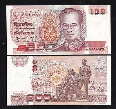 Unc Painstaking Thailand 100 Baht P97 Sign 75 King Rama Ix Bhumibol Adulyadej 1994