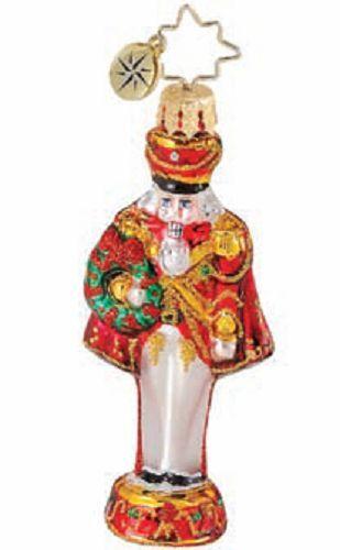 "Radko Grand Guard Little Gem 3/""  Nutcracker Ornament 1015090 NWT"