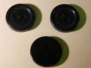 NEW 25 3//4  INCH BLACK  POLISHED BUTTON 2 HOLE W//RIM
