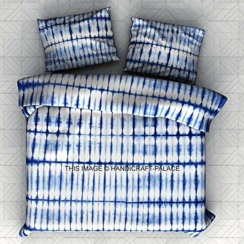 Tie Dye Stripe Boho Duvet Doona Cover Set King Indian Quilt Cover Cotton Throw