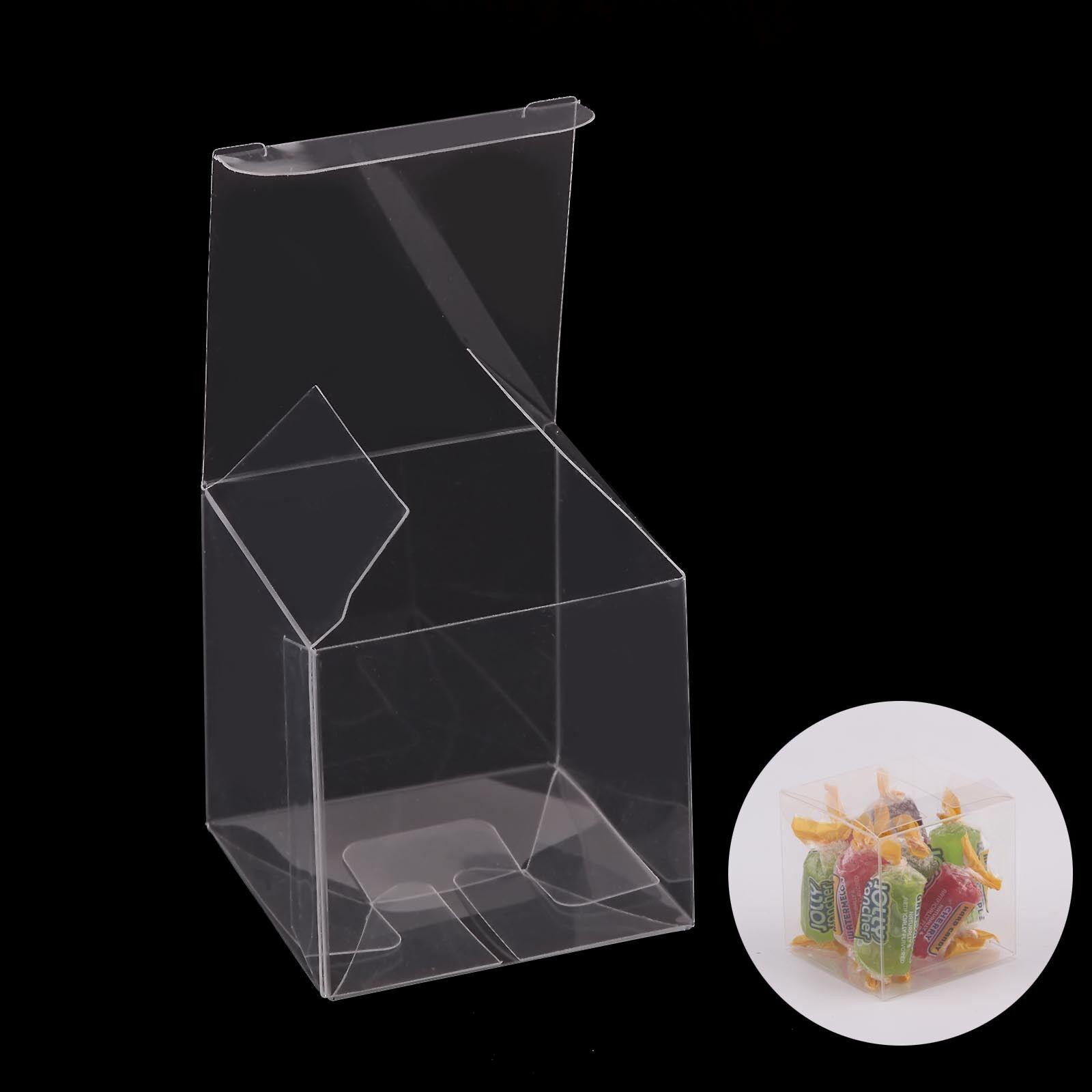 50 100 200Scatole di Scatola caramella in pvc Confezione Box Box Box Regalo trasparente 395aa8