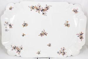 """DEEP 18"""" PLATTER ANTIQUE C1880 HAVILAND LIMOGES H&Co CHINA FLORAL WHITE FLUTED"""
