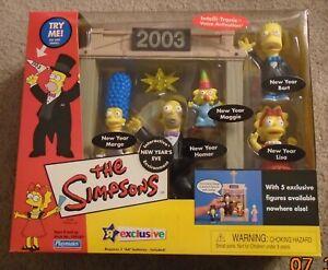 The Simpsons:WOS:New Years Eve Figure Playset 2003 TRU Exclusive w/5 figures-NIB