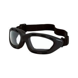 CrossFire Safety Goggles, Clear Anti-Fog Lens, Black Foam Lined Frame, 91351AF