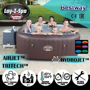Bestway Inflatable Lay-Z-Spa Outdoor 5-7 people Massage Hot Tub Portable 54173